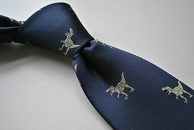 Frederick Thomas navy tie with t-rex dinosaur design costume fancy dress 2
