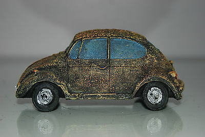 VW Beetle Old Rustic Style Car Decoration 14 x 6 x 6 Suitable For All Aquariums 5