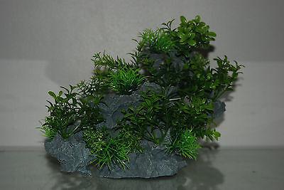 Aquarium Large Detailed Rock with Various Plants Decoration 29 x 10 x 25 cms 6