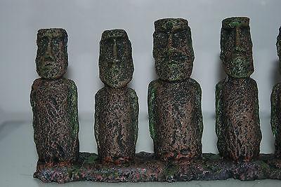 Aquarium & Vivarium Large Line Of Easter Island Heads Decoration 31 x 7 x 14cms 4