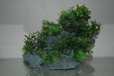Aquarium Large Detailed Rock with Various Plants Decoration 29 x 10 x 25 cms 7