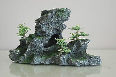 Aquarium Large Detailed Rock & Plant Decoration 15x8x13 cms For All Aquariums 3
