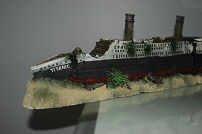 Stunning Aquarium Detailed Large Titanic 59 x 9.5 x 15 cms For All Aquariums 5 • EUR 54,70
