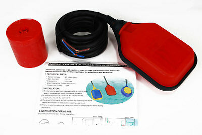 TEMCo Liquid or Water Level Float Switch Sensor Sump Fluid Tank NO/NC Controller