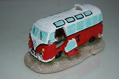 Aquarium Old VW Camper Van Red Decoration 15.5 x 9.5 x 8 cms 3