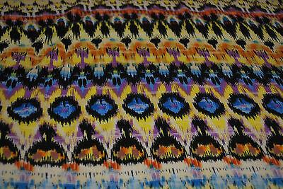 Rayon Stretch Jersey Knit Fabric Beautiful Splatters yellow gray turquoise gray