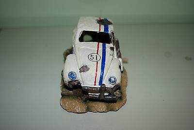 Aquarium VW Herbie car Decoration & Bubble Exhaust Size 15 x 10 x 7 cms 3