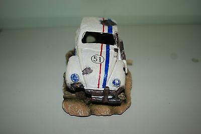 Aquarium VW Herbie car Decoration & Bubble Exhaust Size 15 x 10 x 7 cms 3