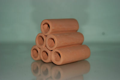 Aquarium Ceramic Breeder Tubes Smooth 7.5 x 8 x 7.5 cms For Loaches & Small Fish 3