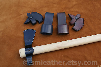 COLD STEEL TRAIL Hawk Tomahawk Black Leather Sheath Cover and Belt Carry  Loop
