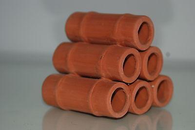 Aquarium Ceramic Breeder Tubes Medium 7.5 x 8 x 7.5 cms For Loaches & Small Fish 2