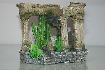 Aquarium Medium Roman Arch With Steps & Plants 18 x 10.5 x 14 cms 4