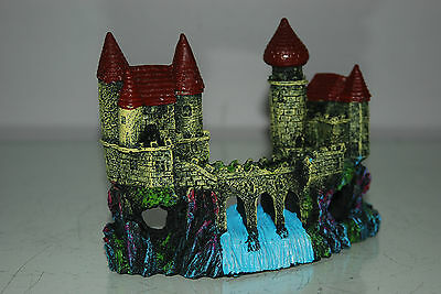 Detailed Aquarium Small Castle and Weir Decoration 16 x 5 x 12 cms 4