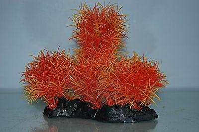 Aquarium Large Orange Bush Plant 17 x 7 x 16 cms For All Aquariums 4