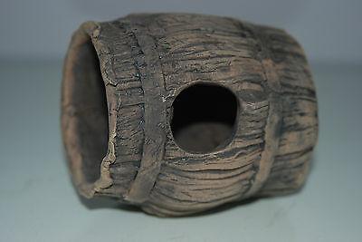 Aquarium Large Detailed Ceramic Breader Barrel Open Ended 10 x 10 x 11 cms 3