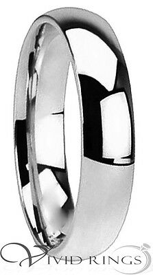 Mens & Womans Stainless Steel Wedding Band High Polish Ring Size 3.5 to 14.5 5