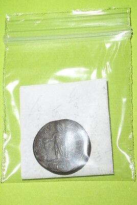 Genuine Ancient ROMAN COIN genius MAXIMINUS II DAIA 305 AD patera tool VG VF old 4