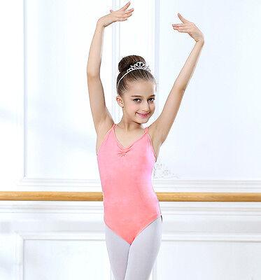 3c2ed240d51d GIRL KIDS SLEEVELESS Dance Gymnastics Leotards Ballet Leotard ...