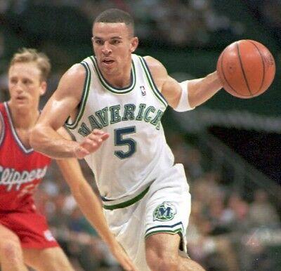 004d415b92ab ... Jason Kidd game used Mavericks 1994 rookie basketball jersey sz 46 +3  CBM COA 2