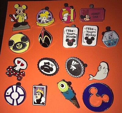 Disney Pin Trading Lot of 30 Assorted Pins NEW No Doubles 100% Trad-able  Disney 3