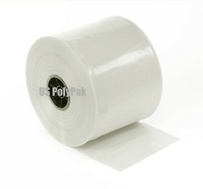 """Clear 2 3 4 6 8"""" Lay Flat Mil Poly Tubing for Plastic Bags using Impulse Sealer 3"""