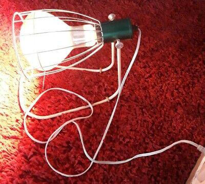 Rotlichtlampe aus Glas von 1940 Wärmelampe Strahler / gebraucht und funktioniert 8