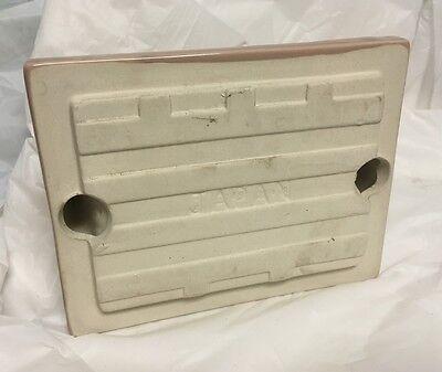 New Old Stock Mid Century Porcelain Toilet Paper Holder SPICED MOCHA 1950's 3
