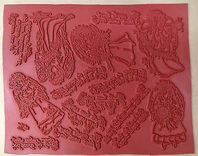 unmounted rubber stamp sheets floral angels angel stamps angel