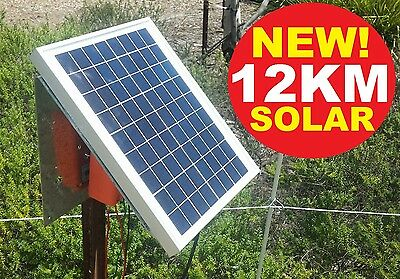 12km Solar Power Electric Fence Energiser Energizer 1.2J DAKEN Farm Horse Animal 2
