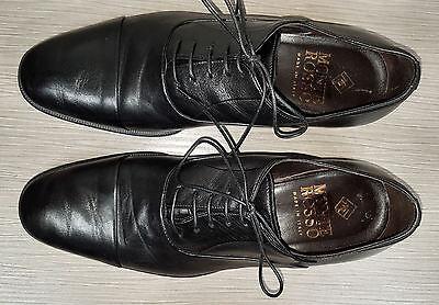 3f9900a3677 ... Monte Rosso Lazio Cap Toe Oxford Black Soft Leather Mens Size 8.5 M 5