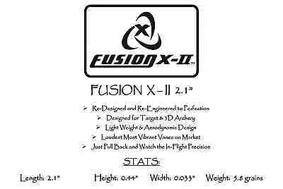 "White Fusion X-II Vanes Pkg50 ***When Accuracy Counts*** 4.0/"""