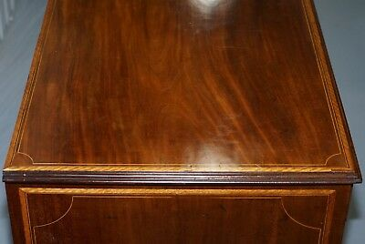 Stunning Victorian 1880 Edward & Roberts Satinwood & Walnut Partner Desk Rare!!! 6