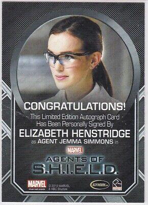 Marvel: Agents Of Shield Season 2 Elizabeth Henstridge Simmons Ab Ex Autograph 2