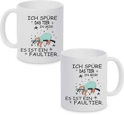 Kaffeetasse Kaffeebecher Teetasse Tasse Faultier mit lustigem Spruch ts275