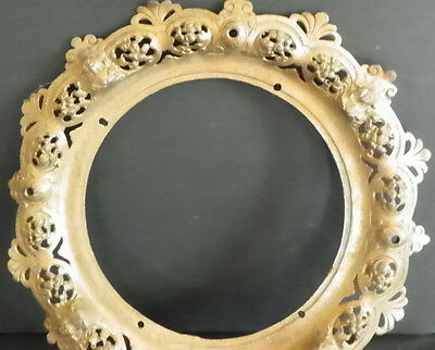 3 Cast Bronze Rings (2 Pierced And 1 W/acanthus Leafs) 4893 3