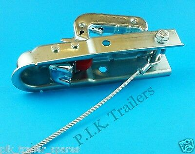 Unbraked Trailer Safety Secondary Coupling Breakaway Cable & Fixing Bracket 5