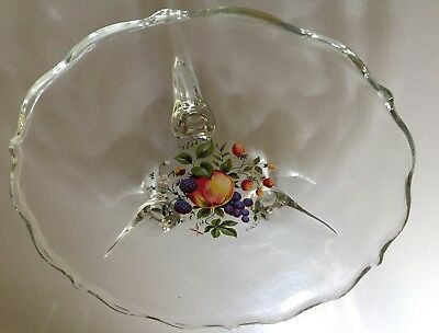 """Vintage Clear Glass Footed Scalloped Candy Dish~Bon Bon Dish Plate 7.5"""" 3"""