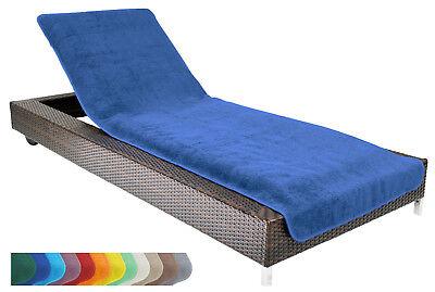 Liegestuhl-Schonbezug mit seitl Taschen für Strandliegen Frottee 70 x 200 cm