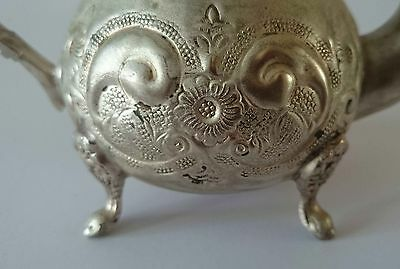 Old Beautiful  Handcrafted Marked  Islamic  Moroccan Hammered Teapot Tea Pot 8