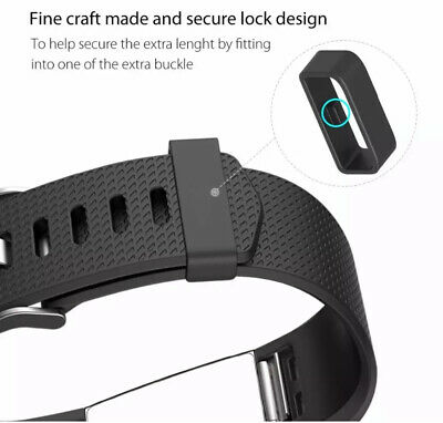 For Fitbit Charge 2 Bands Replacement Sport Strap Band Soft Silicone Adjustable 10