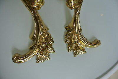 "2 large french style pulls handles 100% brass vintage style doors 11""polished B 7"