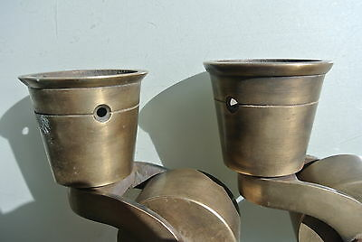 2 big CUP solid 100% Brass foot castors wheel chairs tables old style castorB 2