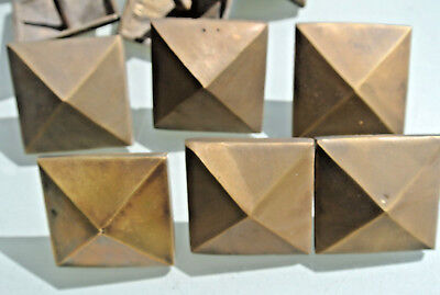 "10 brass STUDS door solid heavy furniture boxes vintage age old style 2"" decor 6"
