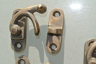 5 Nice medium small box Latch catch solid brass furniture 40 mm doors trinket B 6