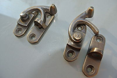 4 Nice medium small box Latch catch solid brass furniture 40 mm doors trinket 7