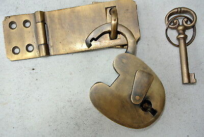 box & padlock catch hasp latch vintage style house DOOR Key heavy rectangle 5