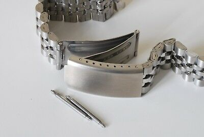 CHOOSE 18mm 20mm OR 22mm JUBILEE LINK WATCH BRACELET. STRAIGHT ENDS.GOOD QUALITY 7