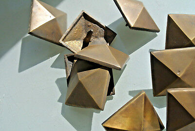 """10 STUDS door solid heavy 100% brass furniture boxes old style 2"""" decor B 8"""