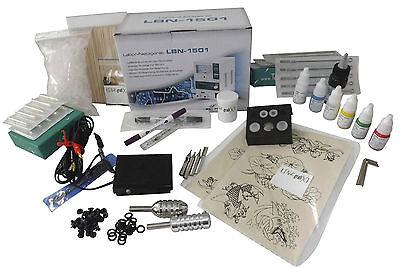 TATTOO LUXUS KOMPLETTSET Tattoomaschine Hammer ROTARY IG-7g INKgrafiX® SET PROFI 9