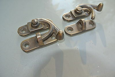 8 Nice medium small box Latch catch solid brass furniture 40 mm doors trinket B 7